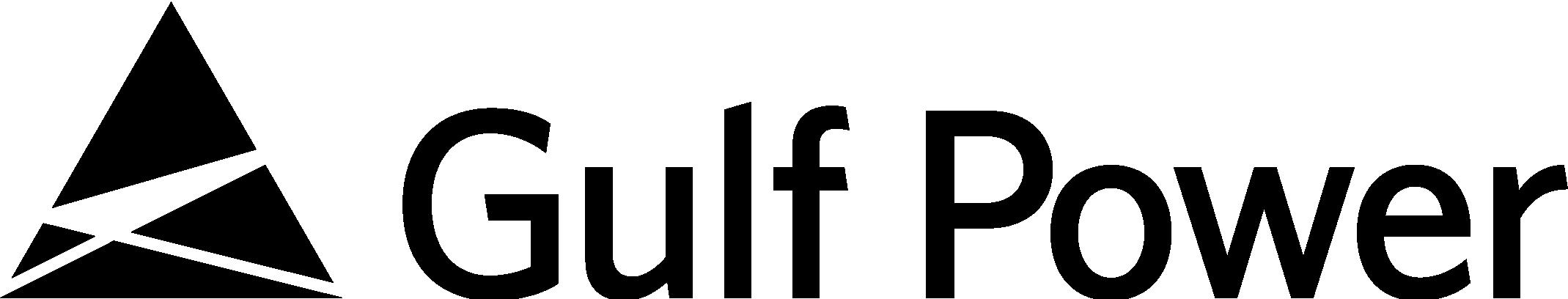 Gulf Power logo (black/horizontal)