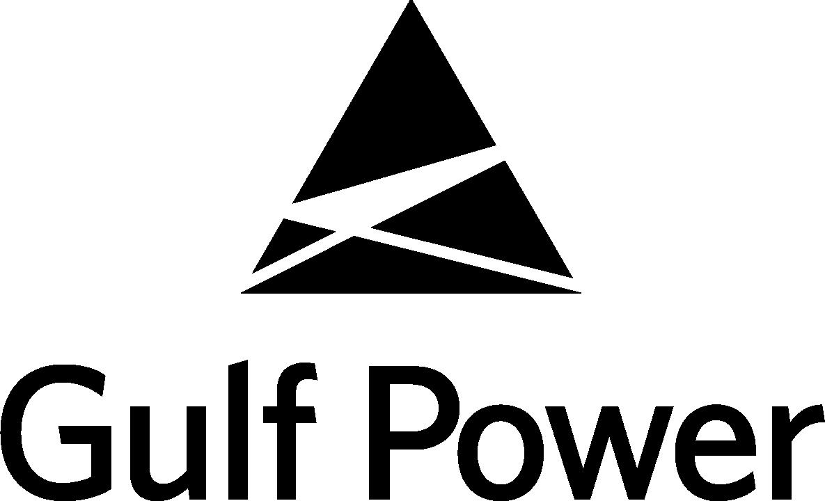 Gulf Power logo (black/vertical)