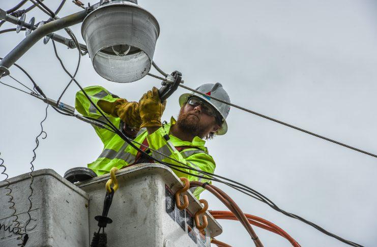 Linemen restoring power - Nate - FWB Beach